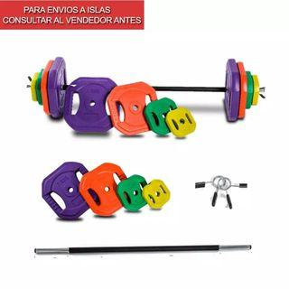 Barra y pesas body pump