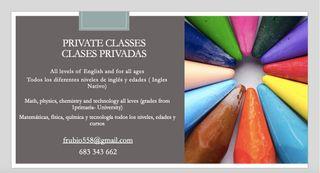 Clases privadas