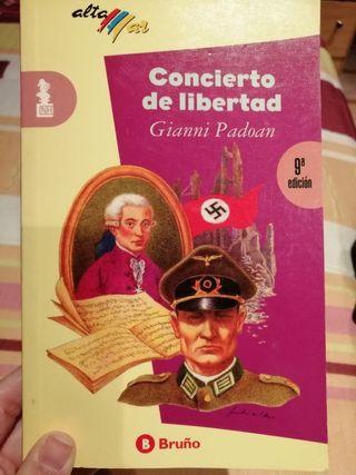 """libro de lectura """" Concierto de libertad"""""""