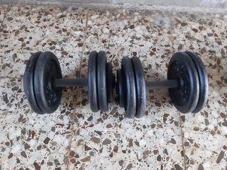 Mancuernas de hierro ( 22 kg)