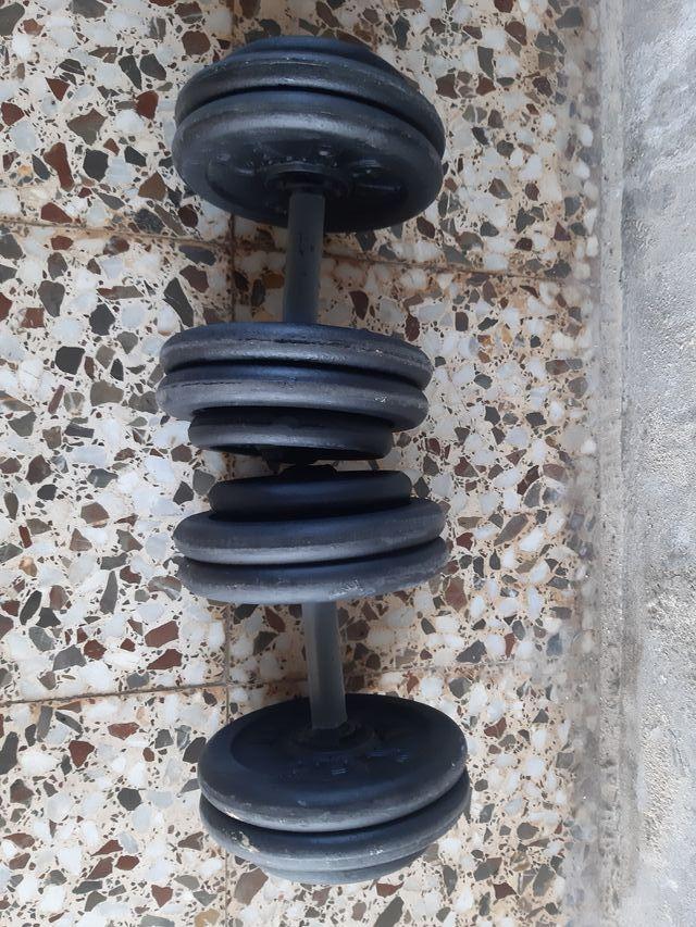 Mancuernas de hierro (25kg)