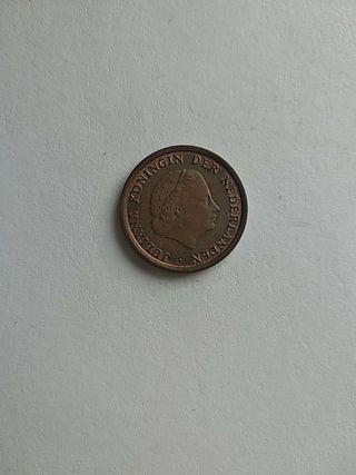 Moneda 1 céntimo Países Bajos 1970