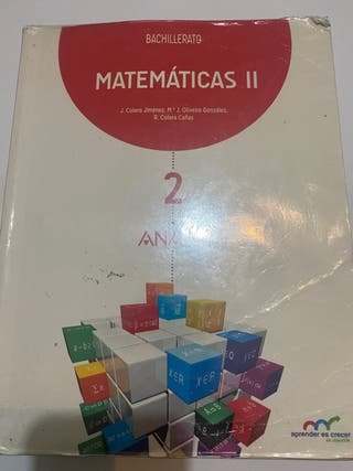 Libro matemáticas II Bachillerato Anaya