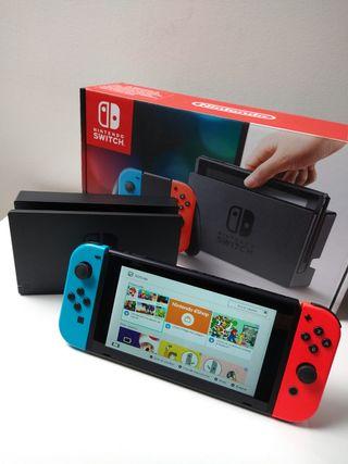 Nintendo Switch neón COMO NUEVA
