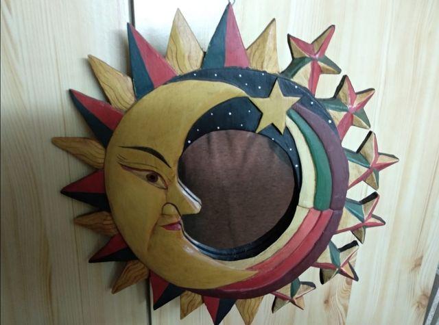 Espejo luna de madera