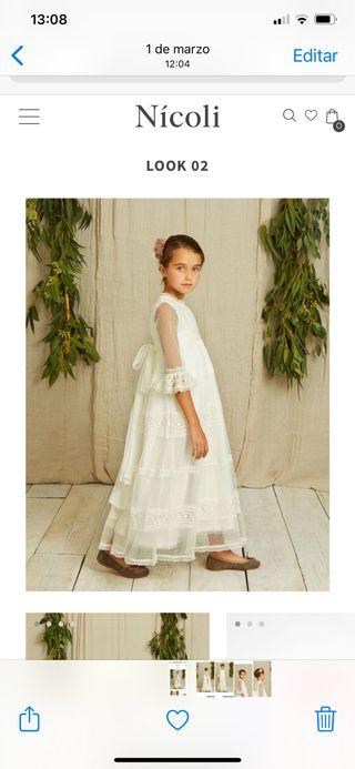Vestido comunión. Talla 12 NICOLI
