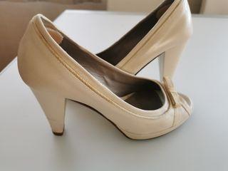 Zapato blanco de piel Rosa Clara