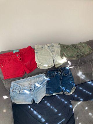 Lote pantalones cortos+suéter+mono
