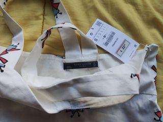 Top blanco Zara Nuevo
