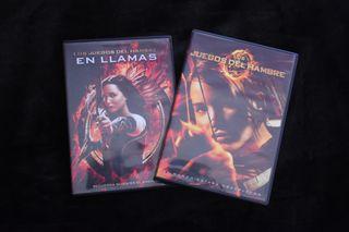 DVDs Los Juegos del Hambre y En Llamas