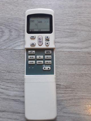 mando control de aire acondicionado carirer