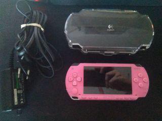 Consola PSP Rosa + Juegos