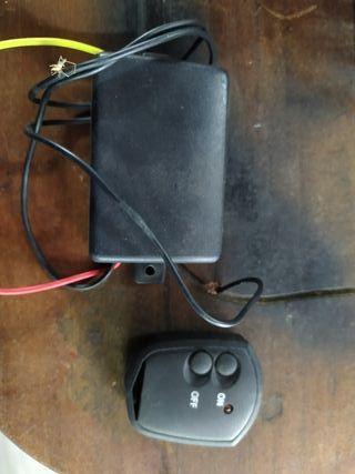 mando y receptor para luces coche