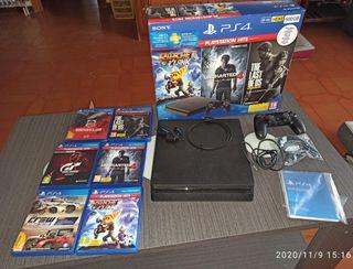 Playstation 4 - 500Gb - 1 mando - 6 juegos