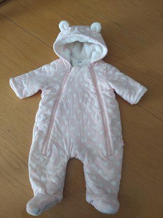 abrigo buzo bebé 0-3 meses