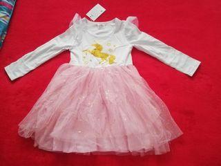 Vestido unicornio rosa