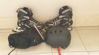 Patines + casco + protecciones