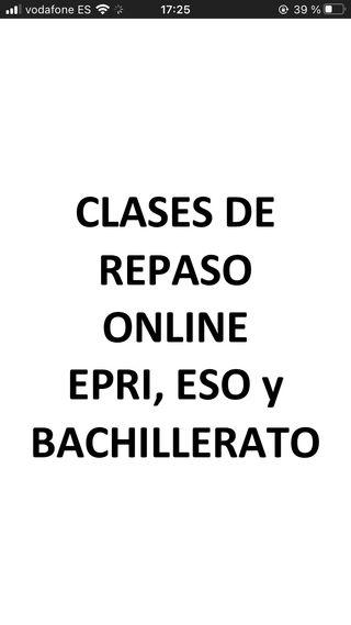 Clases De Repaso de EPRI, ESO y Bachiller