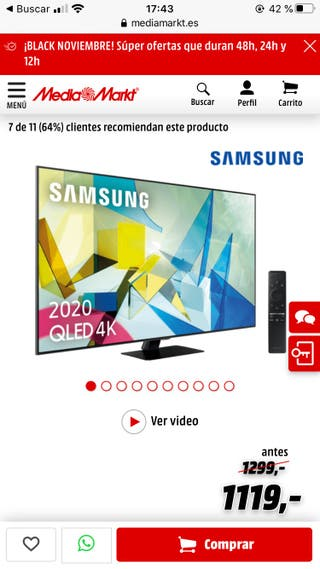 "Tv Samsung 49"" Q80T"