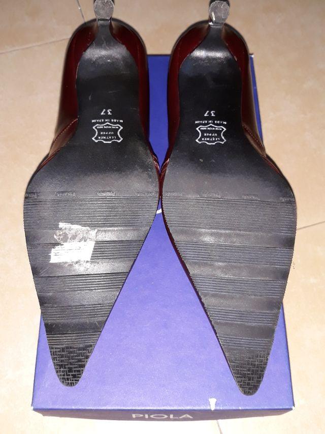 zapatos mujer PIOLA caoba 37.