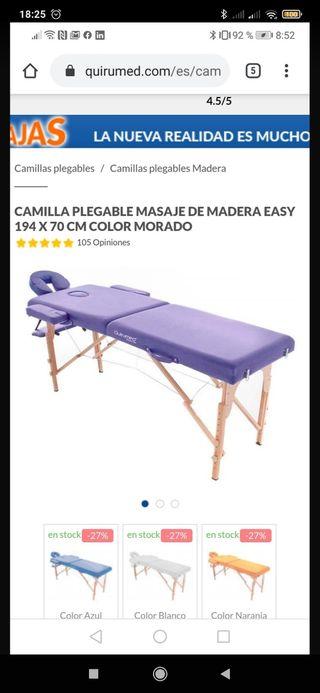 camilla plegable para masajes