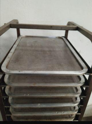 bandeja panadería perforadas aluminio