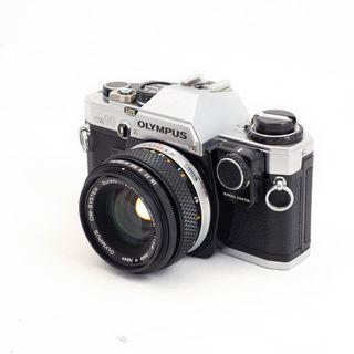 Olympus om10 + 50mm f1.8 + 24mm f2.8 macro