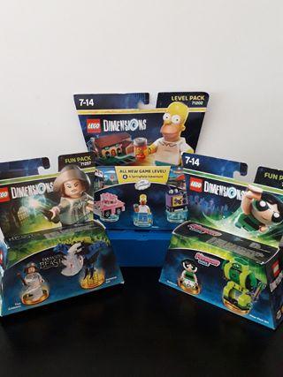 LOTE LEGO DIMENSIONS HOMER-CACTUS-TINA