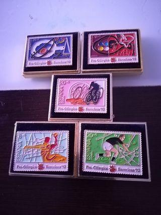 pin sello conmemorativos