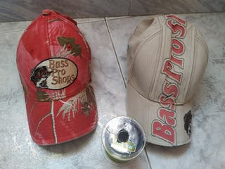 gorras de pesca y hilo trenzado