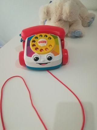 Teléfono carita divertida FISHER PRICE bebé 1 año