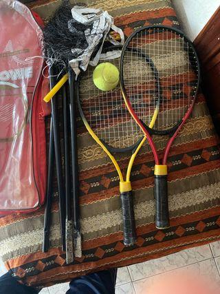 Raquetas red y bola de tenis