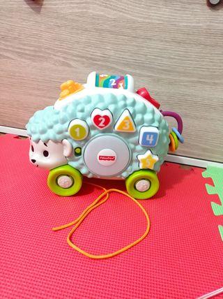 juguete bebé erizo musical