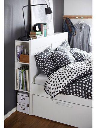 Cabecero de cama con almacenaje
