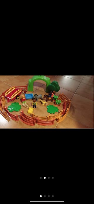Juguete playmobil para niños pequeños granja