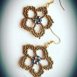 Antique Gold Drops Danlge Earrings Handcrafted New