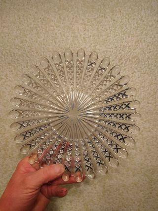 Fuente - bandeja - plato de cristal