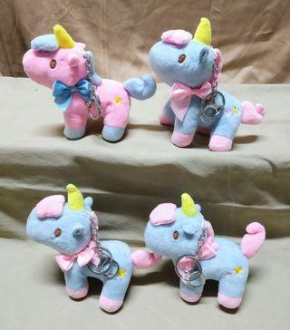 Llaveros de Unicornios de Peluche