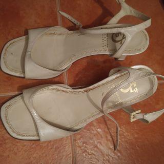 sandalias de novia Sara Navarro. T 37