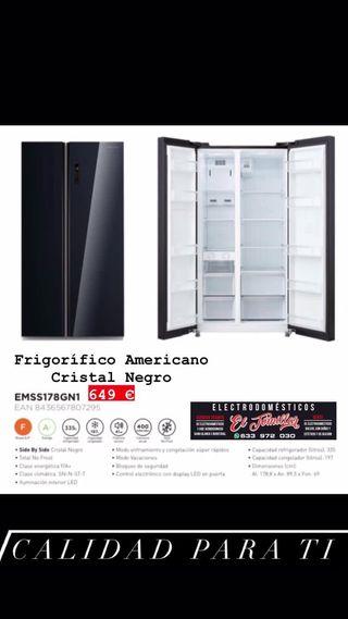 Frigorifico Americano Eas Electric Negro
