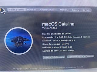 Mac pro Vitaminado 12core 2,66. 24Gb Ram RX580