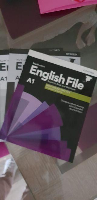 "Libro inglés ""English file A1"""