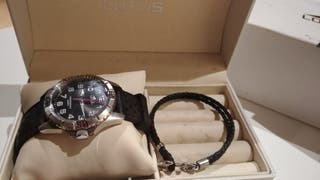 reloj marca LOTUS Y ANILLO DE ORO Y PLATA