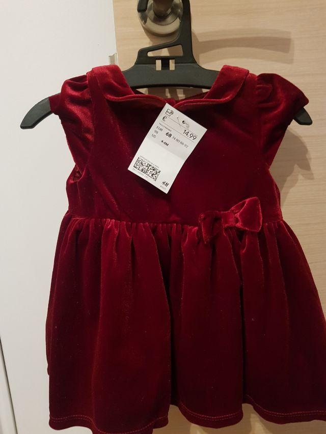 vestido talla 4-6 meses