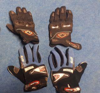 par de guantes de moto niño