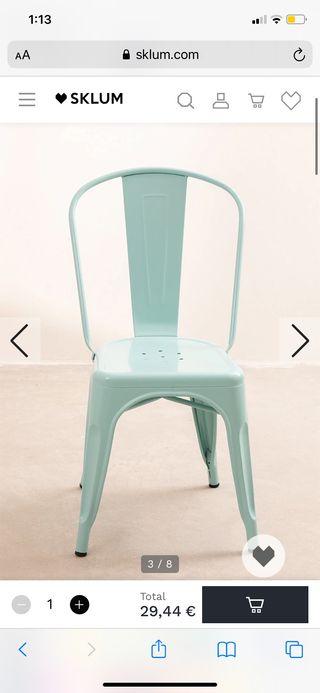 Silla Tolix (juego de 4 sillas)