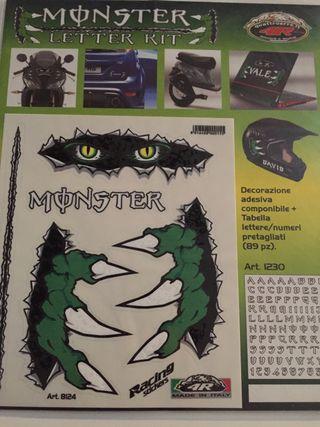 Pegatinas Monster con letras y más