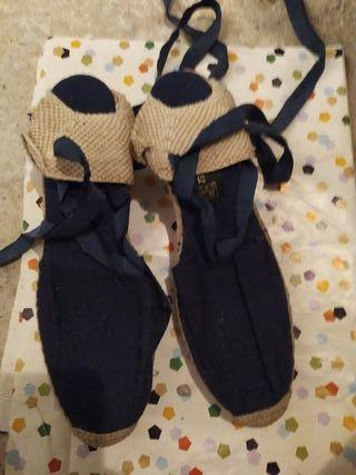 Zapatillas esparto cuña