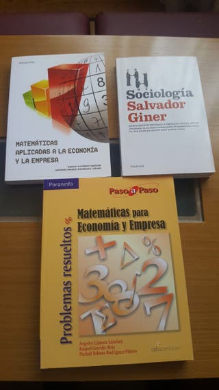 Libros 1° año Economía ó ADE sin estrenar