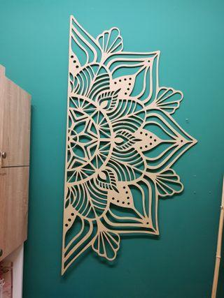 cabecero madera mandala